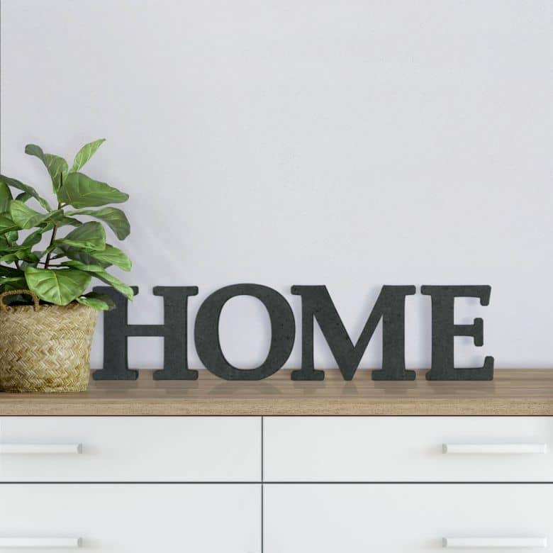 MDF-Holzbuchstaben Home 2