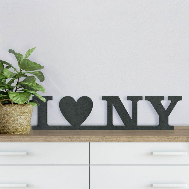 MDF-Holzbuchstaben I Love NY