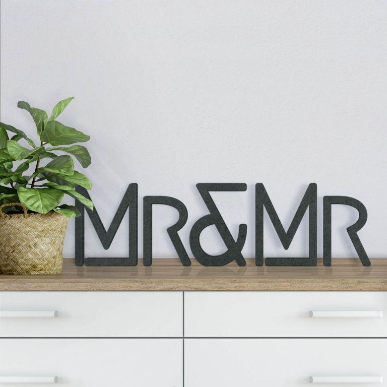 Lettere in legno MDF  Mrs&Mrs Moderno