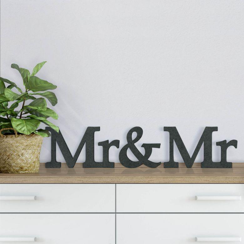 MDF-Holzbuchstaben Mr&Mr Serife