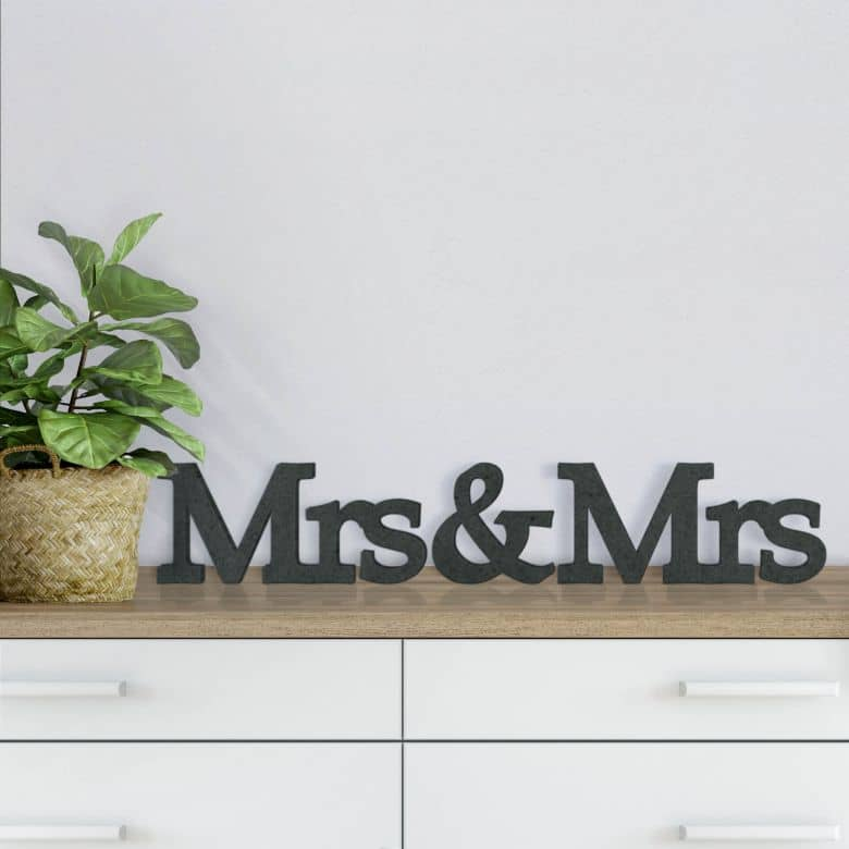 Lettere in legno MDF  Mrs&Mrs Serife
