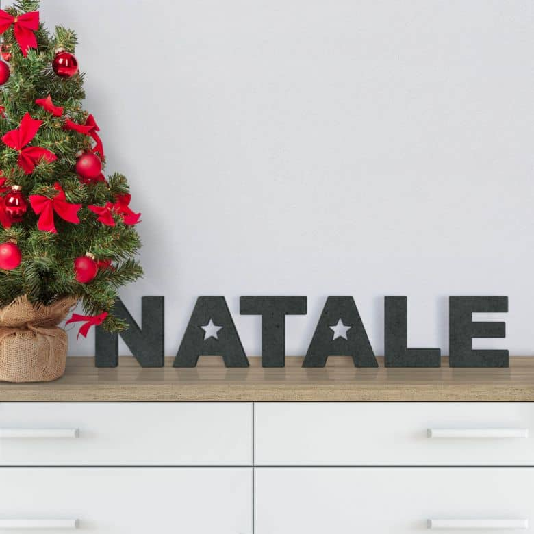 Lettere in MDF - Natale