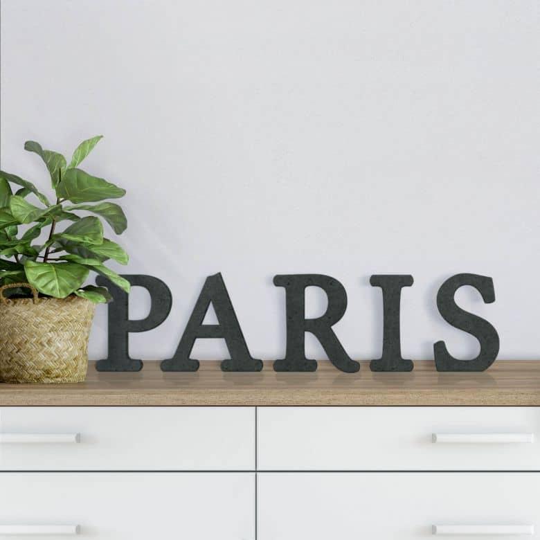 Lettres en bois MDF Paris