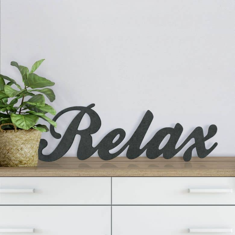 MDF Letters - Relax
