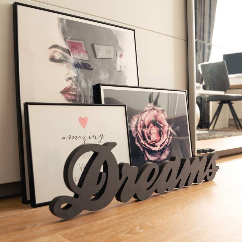 Lettere in legno MDF  Dreams 2
