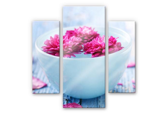 Acrylglasbild Wellness Ambiente (3-teilig)