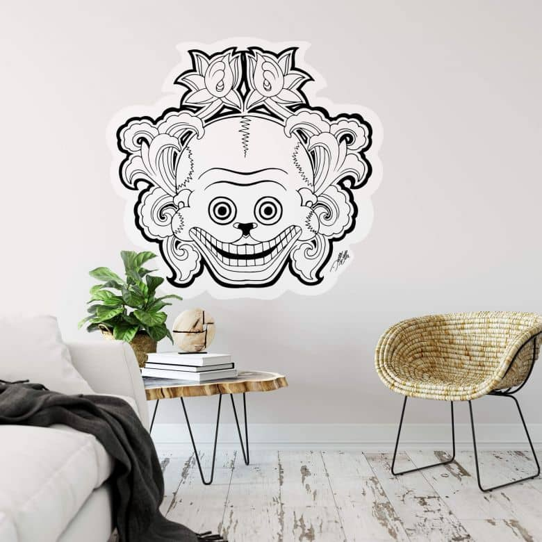 Sticker mural - Miai Ink - Masque des morts mexicains 2