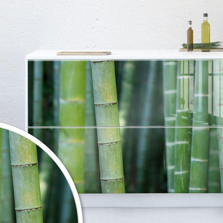 Möbelfolie, Dekofolie - abwischbar - Bambuswald 02