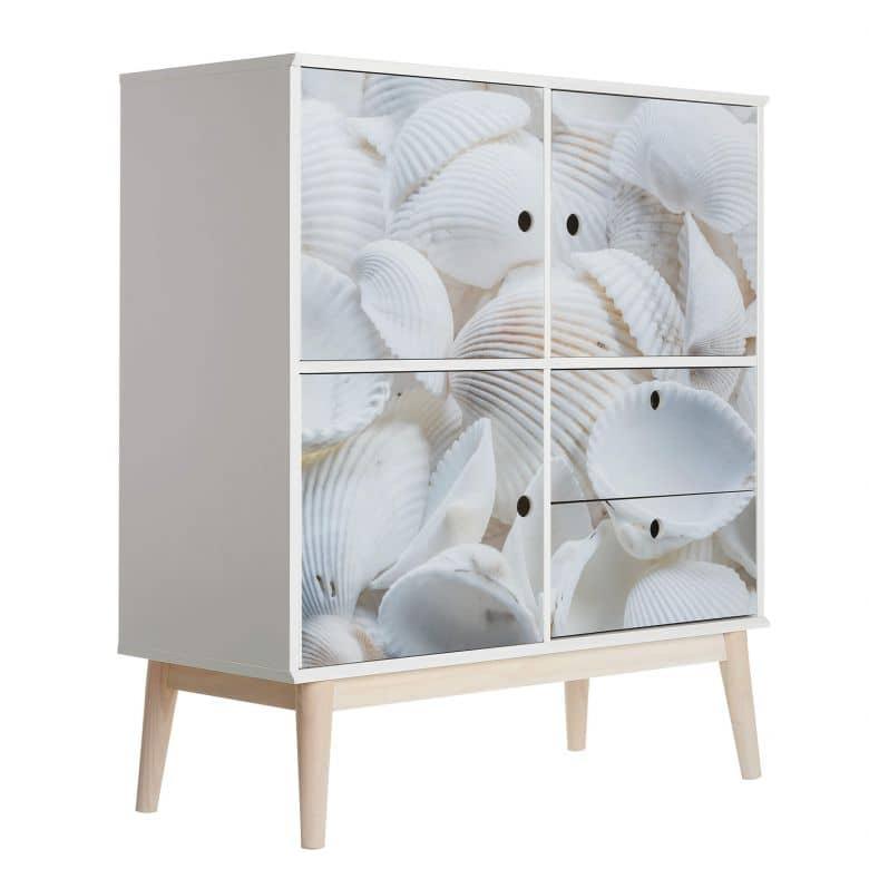 Möbelfolie Weiße Muscheln