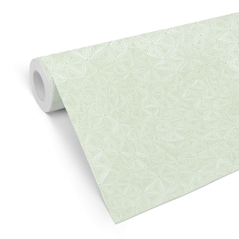 Mustertapete - abstrakte Dreiecke - grün