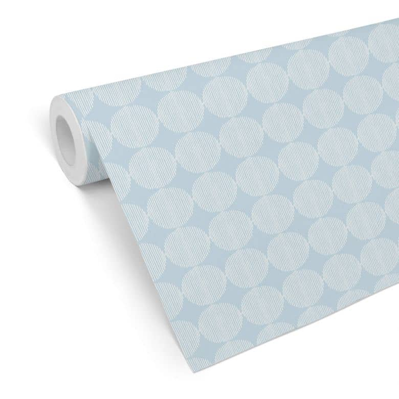 Mustertapete - abstrakte Kreise 02 - blau