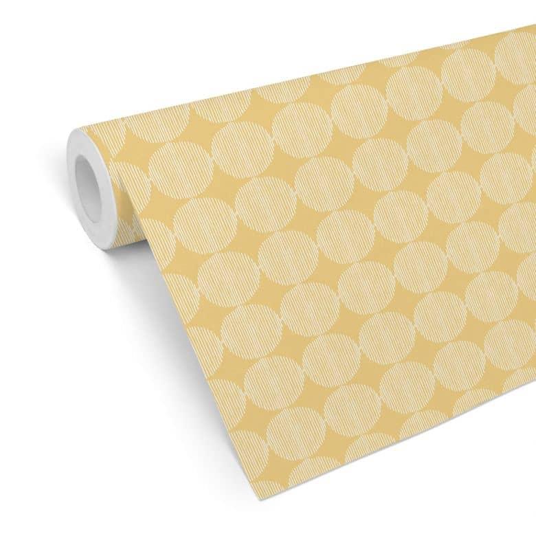 Mustertapete - abstrakte Kreise 02 - gelb
