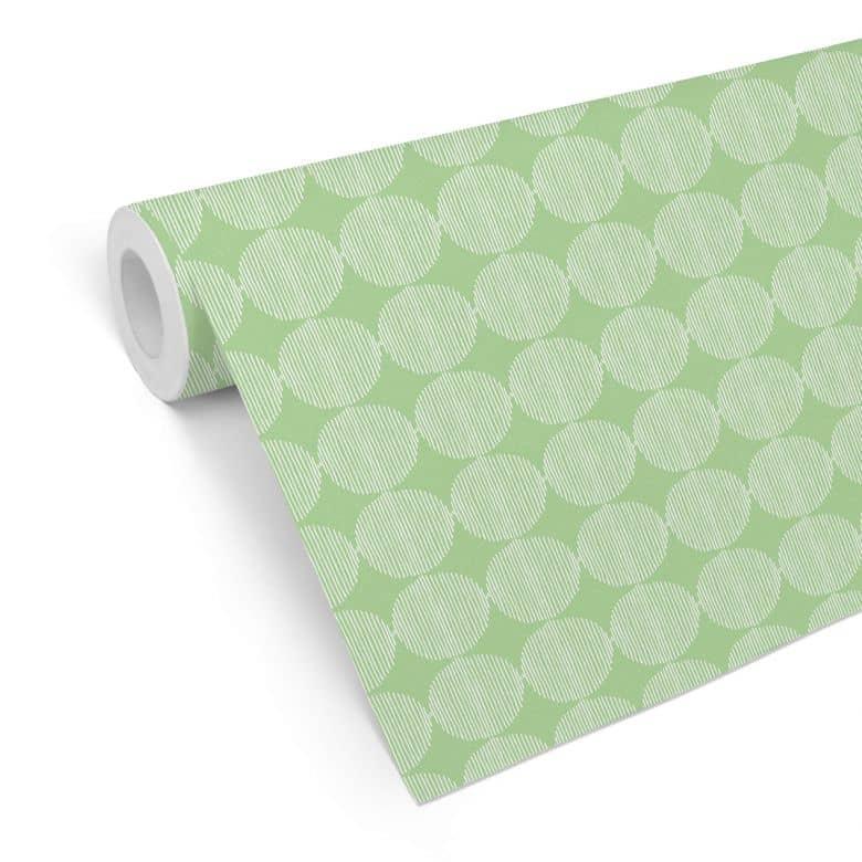 Mustertapete - abstrakte Kreise 02 - grün