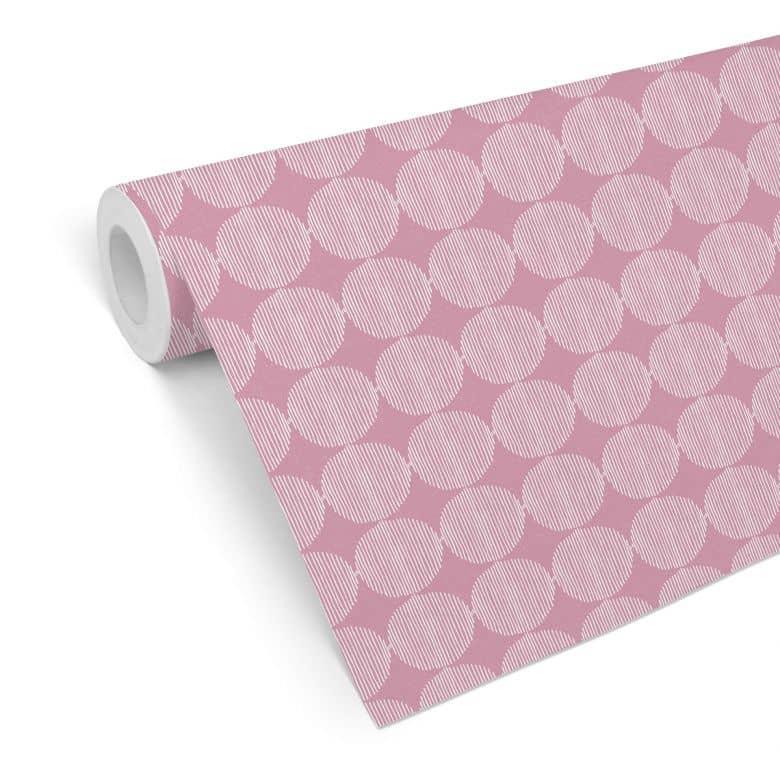 Mustertapete - abstrakte Kreise 02 - pink
