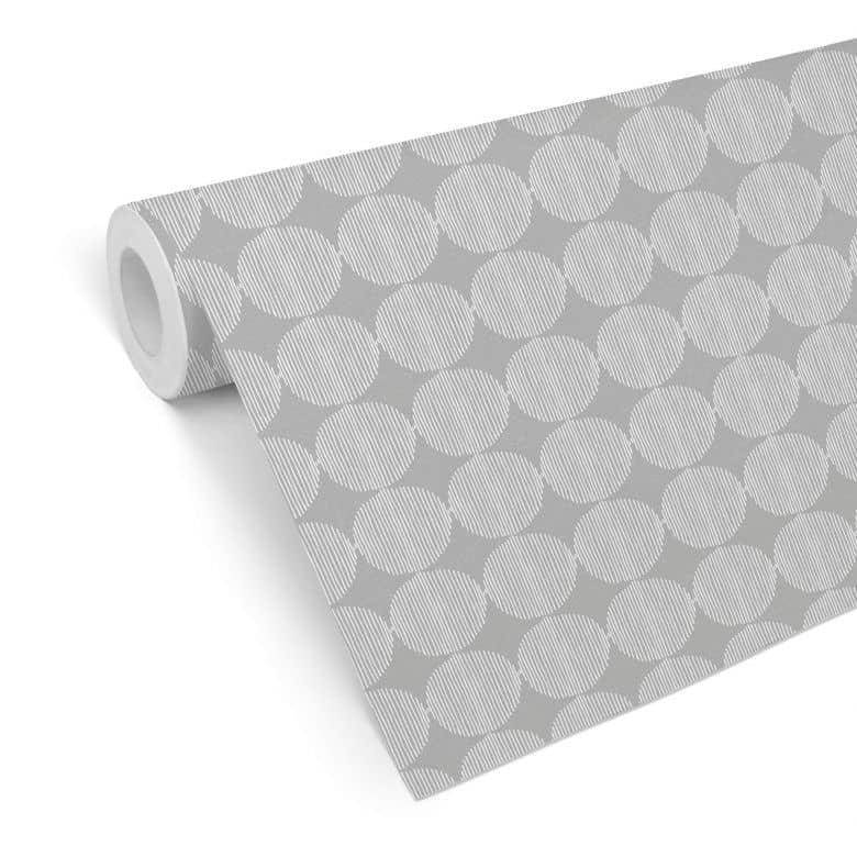 Mustertapete - abstrakte Kreise 02 - schwarzweiß