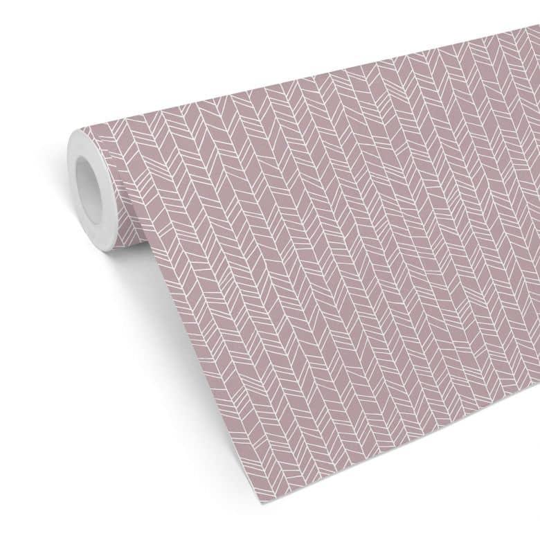 Mustertapete - abstrakte Linien - rosa