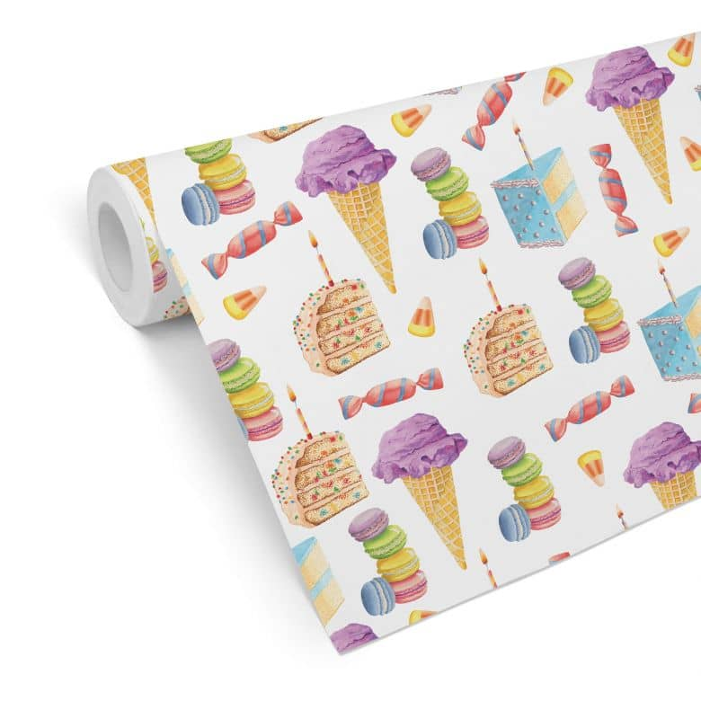 Patterned Wallpaper Sweets