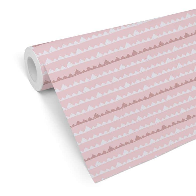 Mustertapete Abenteuer - rosa