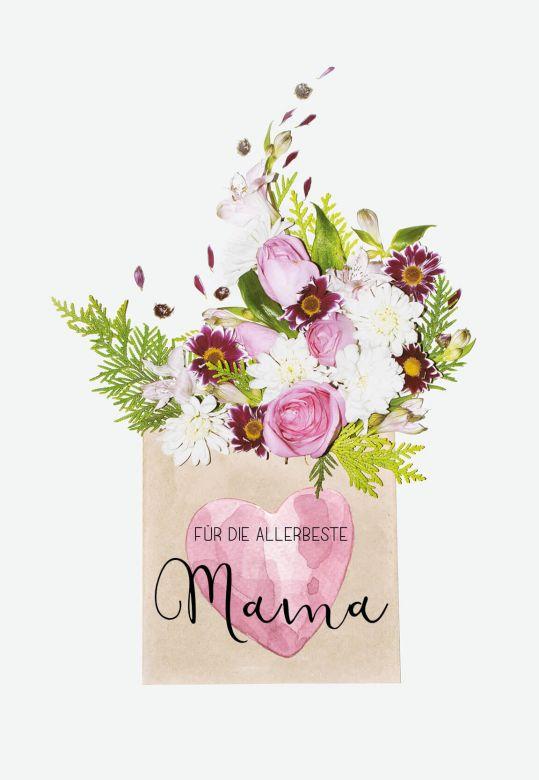 Gutschein Muttertag - Blumengruß