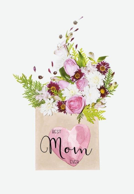 Gutschein Mother's Day - Blumengruß