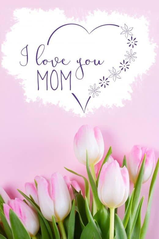 Cadeaubon Moederdag - Roze Tulpen