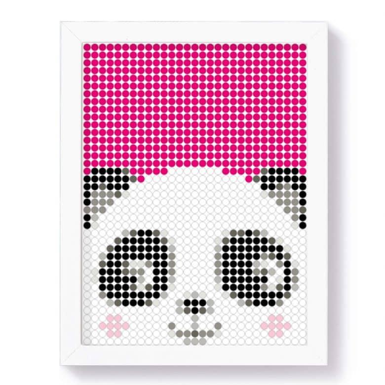 Dot-On Klebeposter L - Panda 30x40 cm