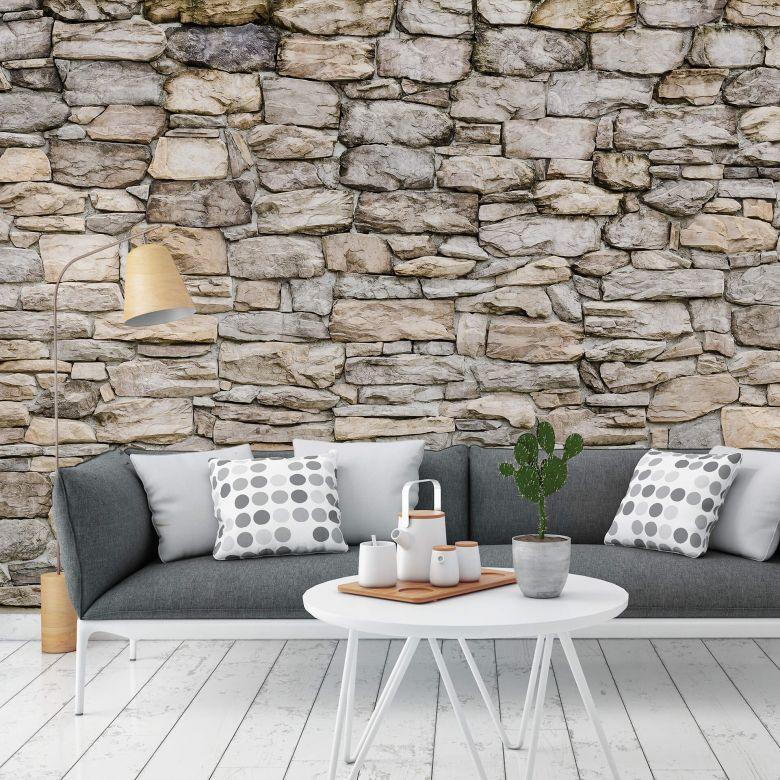 papiertapete natursteinmauer 02 wall. Black Bedroom Furniture Sets. Home Design Ideas