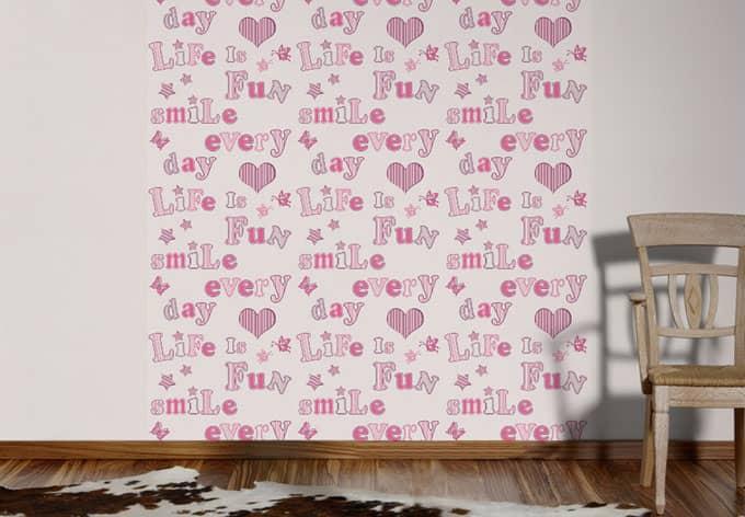 Mustertapete A.S. Création Papiertapete Boys & Girls 5 rosa, violett, weiß