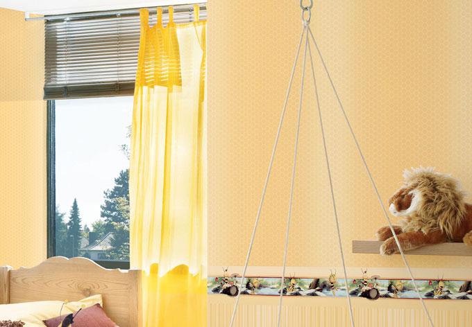 Mustertapete A.S. Création Papiertapete Kids best Friends - Die Biene Maya Creme, Gelb