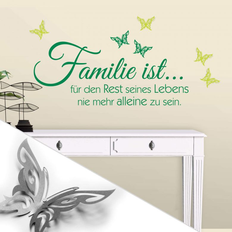Wandtattoo familie ist 3d deko schmetterlinge mit tesa tack 4 teilig wall - Tesa fensterfolie ...