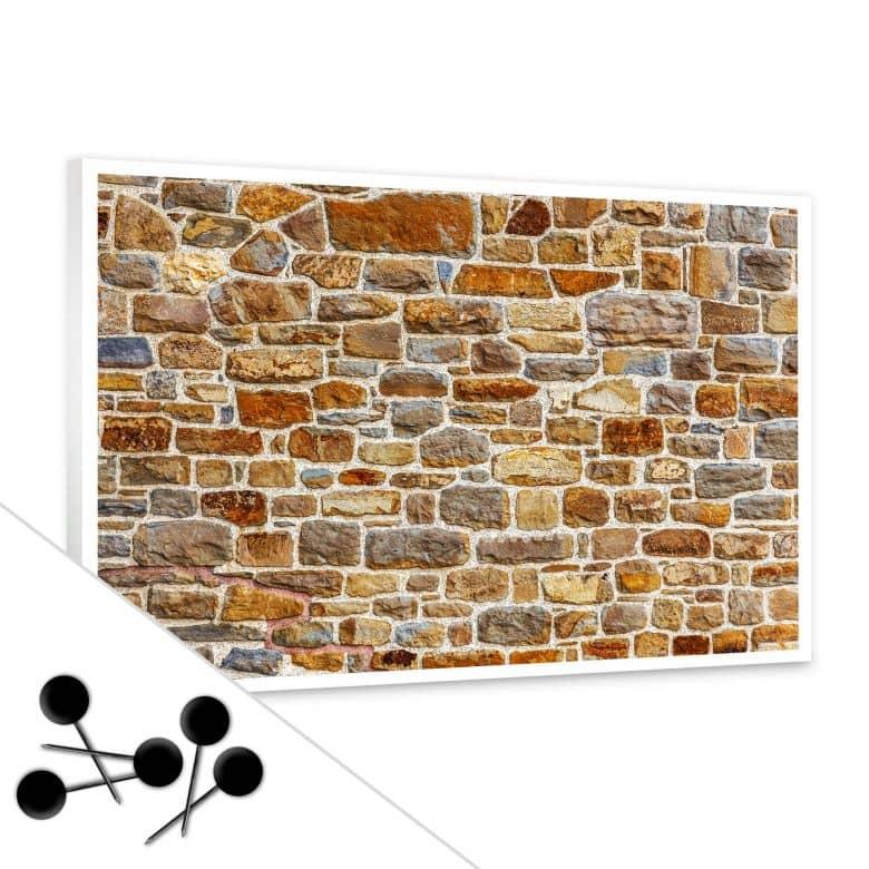 Brick Wall Bulletin Board