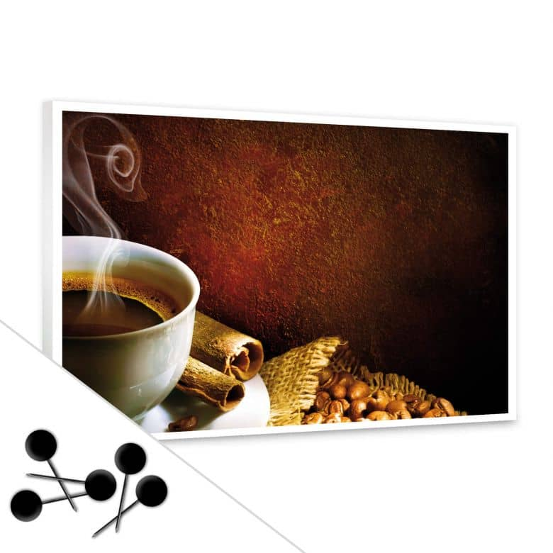 memoboard coffee tolles memo board f r die k che wall. Black Bedroom Furniture Sets. Home Design Ideas