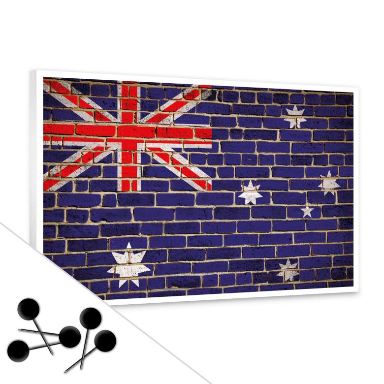 pinnwand down under tolles memo board f r die k che wall. Black Bedroom Furniture Sets. Home Design Ideas