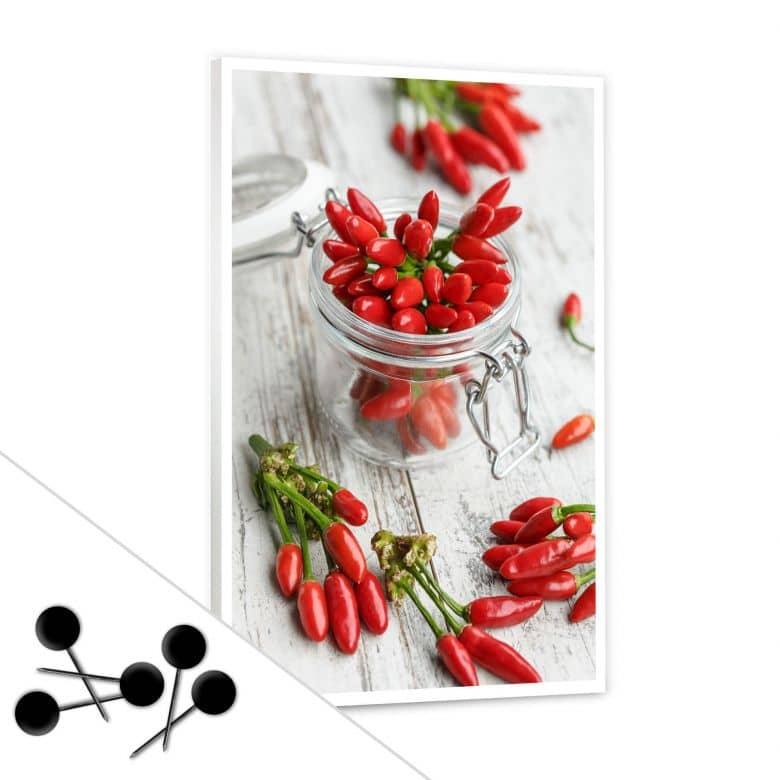 Pinnwand Hot Chili  inkl. 5 Pinnadeln
