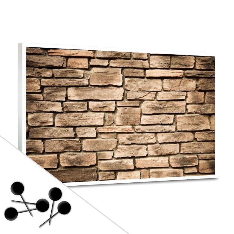Pinnwand Italian Stonewall inkl. 5 Pinnadeln