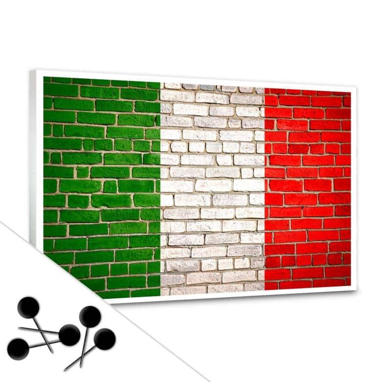 Pinnwand Italienische Flagge inkl. 5 Pinnnadeln