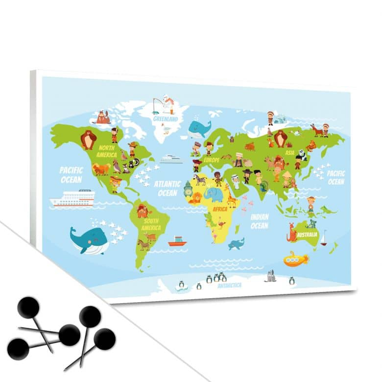 Bulletin Board World Map Children
