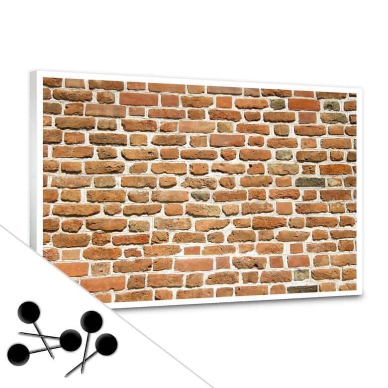 Pinnwand Mauer 02 inkl. 5 Pinnadeln