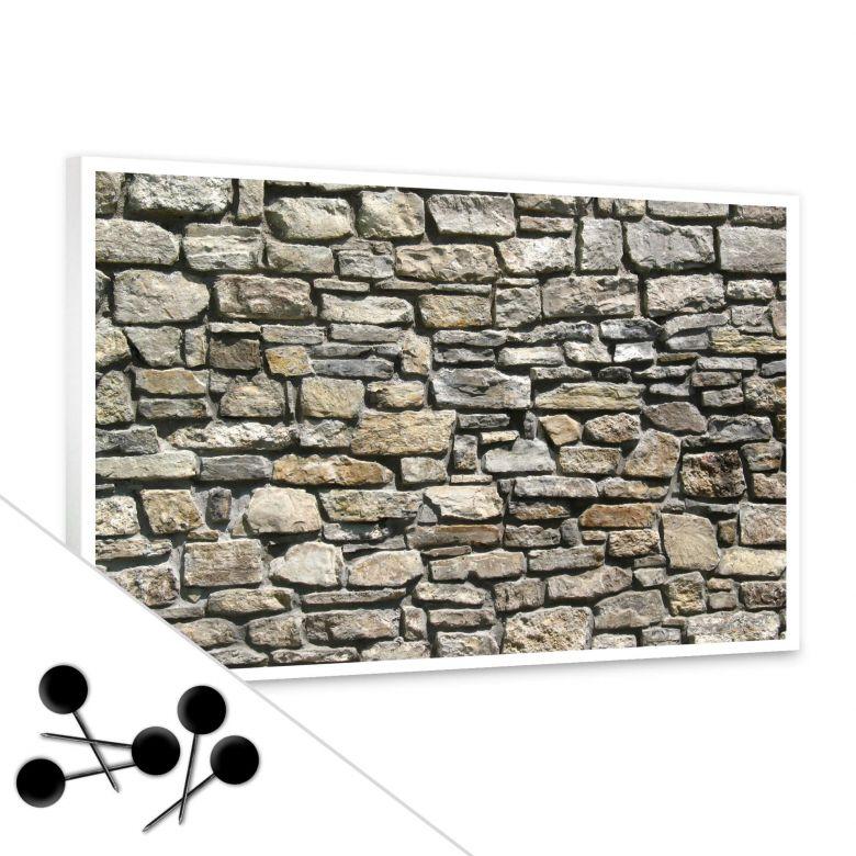 Pinnwand Natursteinmauer inkl. 5 Pinnadeln