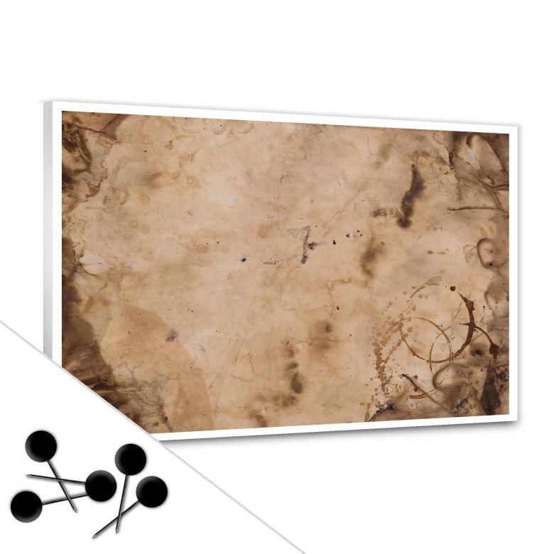Memoboard Old Paper inkl. 5 Pinnadeln