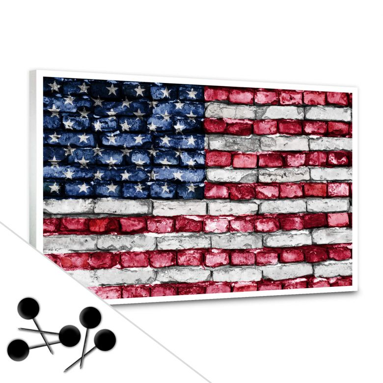 tableau d 39 affichage stars and stripes wall. Black Bedroom Furniture Sets. Home Design Ideas
