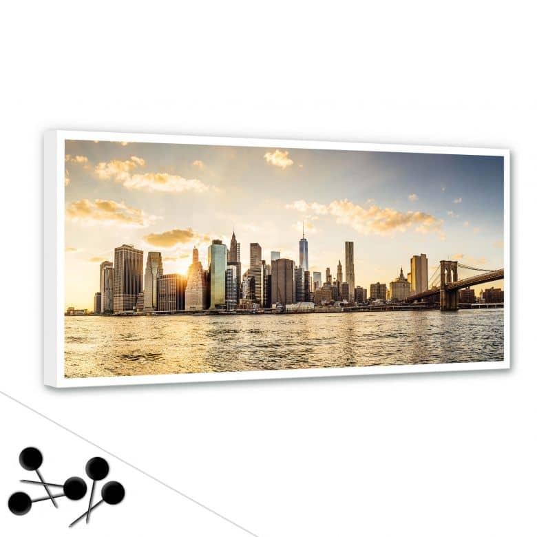 Memoboard Sundown in Manhattan inkl. 5 Pinnadeln