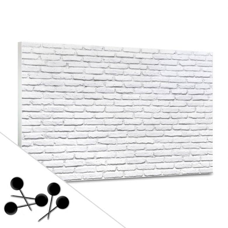 White Brick Bulletin Board