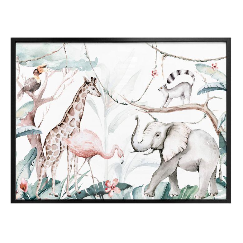 Poster Kvilis - Tierfreunde im Dschungel