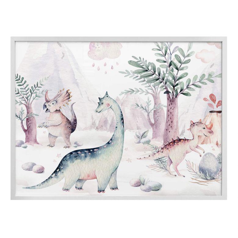 Poster Kvilis - Welt der Dinos