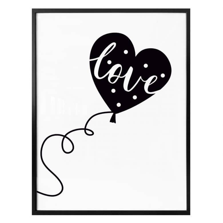 Poster Love balloon