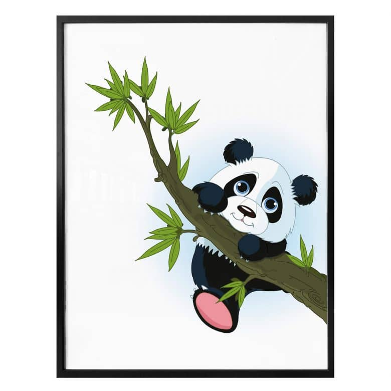 Poster Klimmende Panda
