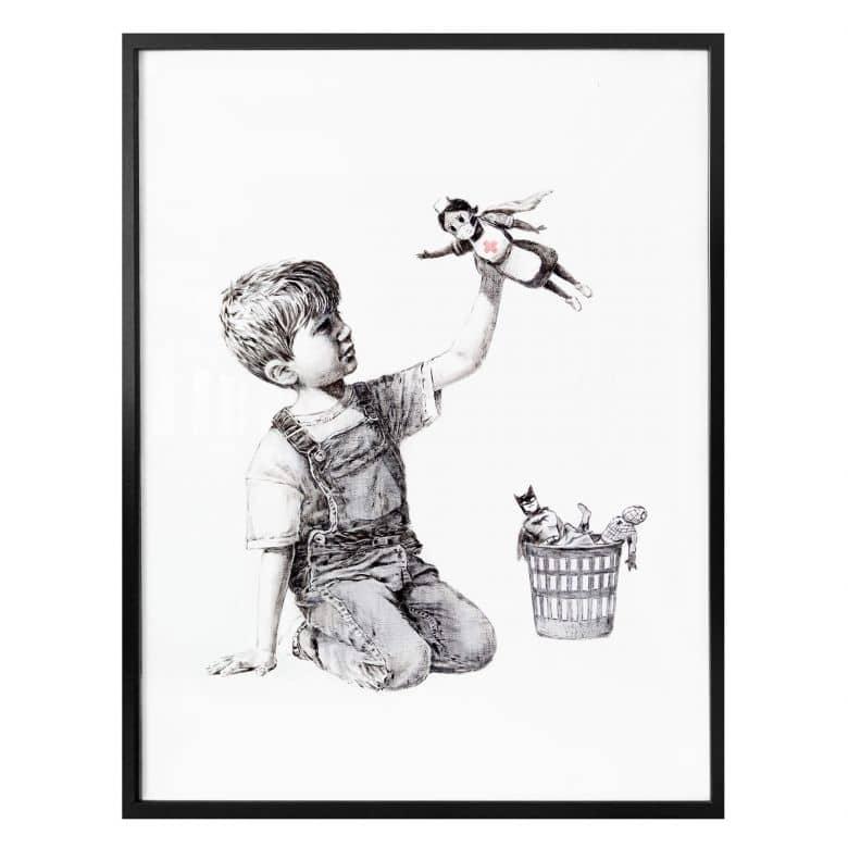 Poster Banksy - Real Hero