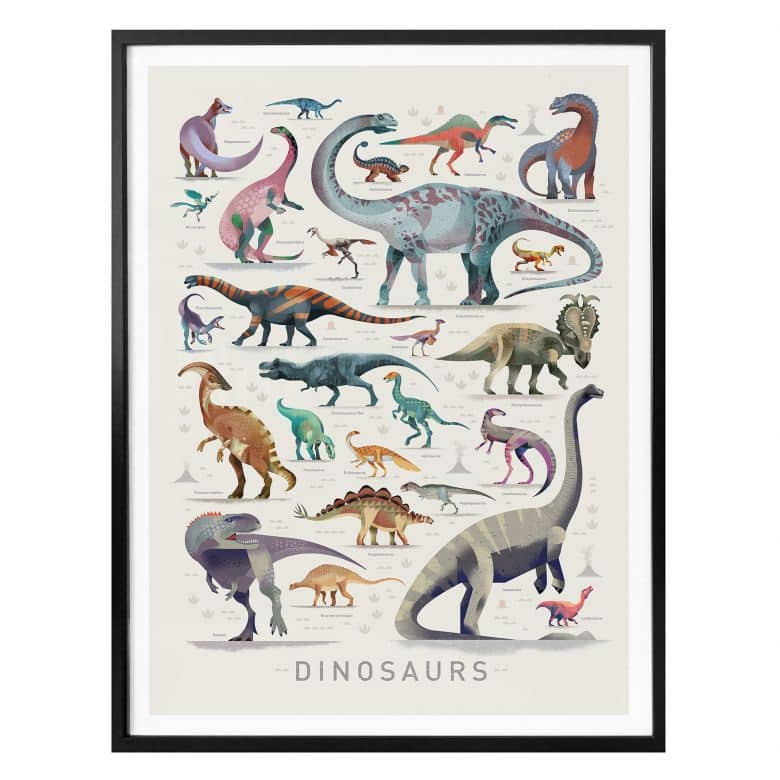 Poster Braun - Dinosaurs