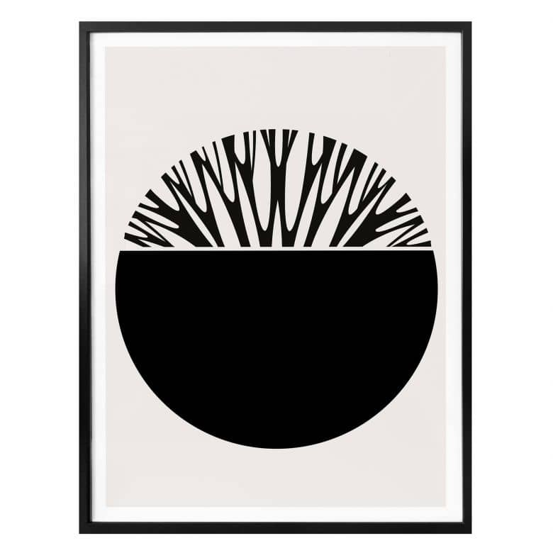Poster Kubistika - Baum des Lebens - Schwarz